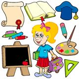 Back to school collection 2 Royalty Free Stock Photography