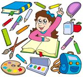 Back to school collection 3 vector illustration