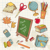 Back to school collection with various study items Royalty Free Stock Photos