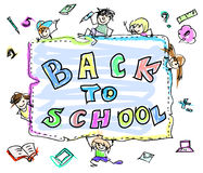 Back to school color doodles Stock Photos