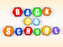 Back to school in color hexagons Stock Image