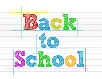 Back to school color illustration Stock Photography