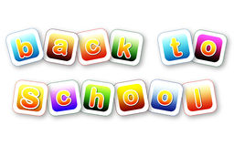 Back to school color letters Royalty Free Stock Photos