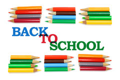 Back to School and Color Pencils Royalty Free Stock Image
