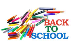 Back to School and Color Pencils Royalty Free Stock Images