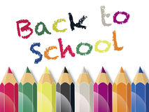 Back to School Color Pencils Royalty Free Stock Photos