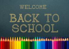 Back to school. color pencils. Stock Photos