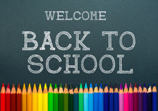 Back to school. color pencils. Royalty Free Stock Photo