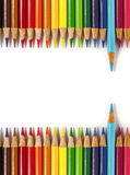 Back to school, colored pencil. Multicolored pencil  on white ground Royalty Free Stock Photo