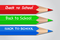 Back to School Colored Pencils Royalty Free Stock Image