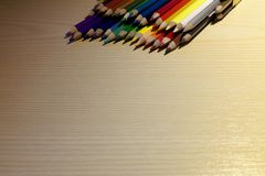 Back to school colored pencils CS Stock Photo
