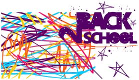 Back to school colorful background Stock Image