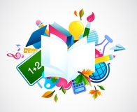 Back to school - colorful background royalty free illustration