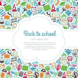 Back to school colorful background with space for text Stock Photo