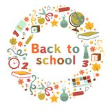 Back to school colorful composition Royalty Free Stock Image
