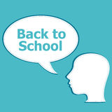 Back to School colorful icons education human head Royalty Free Stock Photography