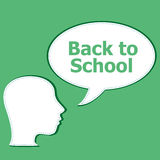 Back to School colorful icons education human head, education concept Stock Images