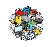 Back to school Colorful illustration Royalty Free Stock Image