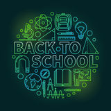 Back to school colorful illustration Stock Image