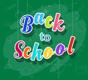 Back to school colorful message Royalty Free Stock Images