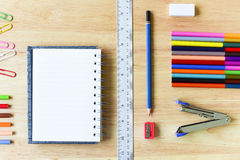 Back to school. Colorful Office and study art stationery objects Stock Photo