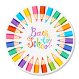 Back to school. Colorful pencils Stock Image