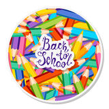 Back to school. Colorful pencils Stock Photos