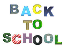 Back to School colorful text. Isolated royalty free stock image