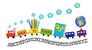 Back to school colorful train Royalty Free Stock Images