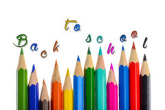 Back to school - coloring crayons Royalty Free Stock Photo