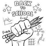 Back to school coloring page Royalty Free Stock Images