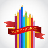 Back to school colors ribbon illustration design Royalty Free Stock Image