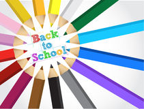 Back to school colors set illustration design Royalty Free Stock Photography