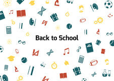 Back to School. Colour illustration Royalty Free Stock Photos