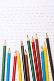 Back to School. Colour pencils. Stationery. Notebook. Royalty Free Stock Photography