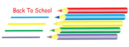 Back To School Colours. A  illustration of a five colours with the text Back to School Royalty Free Stock Image