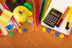 Back to school composition Stock Images