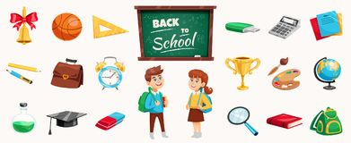 Back To School Composition Poster Stock Image