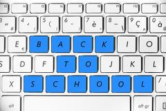 Back to school on a computer keyboard Royalty Free Stock Photos