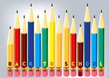 Back to school concept. Colorful Pencils Back to school concept Stock Photo