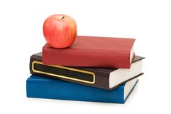 Back to school concept. With apple and books Royalty Free Stock Photography