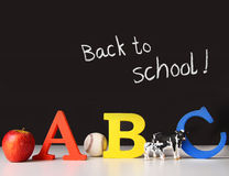 Back to school concept with abc letters Royalty Free Stock Images