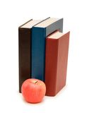 Back to school concept  with apple and books. Back to school concept with apple and books Royalty Free Stock Photography