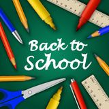 Back to school concept background, realistic style Royalty Free Stock Photos