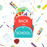 Back to School concept. Backpack with school supplies. Vector illustration. Stock Photography