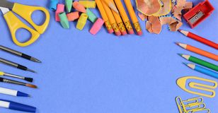 Back to School Concept: Banner sized image stock photos