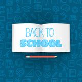 Back to school concept with the book Vector Illustration