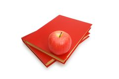 Back to school concept with books and apple Royalty Free Stock Photography