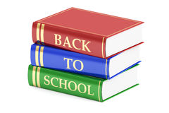 Back to school concept with books. 3D rendering Royalty Free Stock Photo