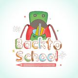 Back to School concept with bag. stock illustration